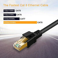 CAT 8 Ethernet Cable Network 15m Cable Shielded 40Gbps 26AWG 2000MHz High Speed
