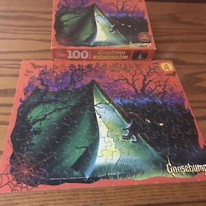 Vintage 1995 Goosebumps 100 Pc Jigsaw Puzzle #9 Welcome Camp Nightmare Complete