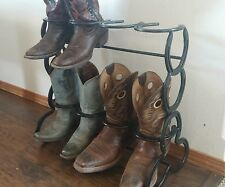 Horseshoe boot rack holds 4 pairs of boots