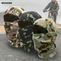 Camouflage Full Face Mask Balaclava MTB Bike Cycling Breathable Cap Multicolor