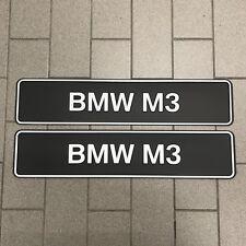Brand New Genuine BMW M3 Show Plate Set 81850300855