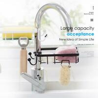 Kitchen Sink Faucet Sponge Soap Cloth Drain Rack Storage Organizer Holder-Shelf