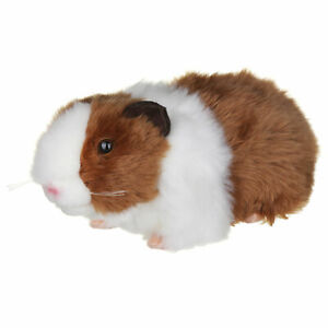 LIVING NATURE GUINEA PIG PLUSH SOFT TOY WITH SOUND 20CM BROWN STUFFED ANIMAL