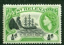 St Helena 1953, Ship, Queen Elizabeth II, 0.5d Black and Green SG# 153, MNH 2131
