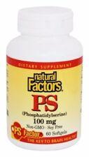 Natural Factors PS (Phosphatidylserine) 100 mg 60 Softgels Brain Health