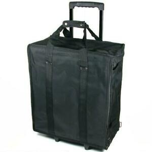 New Large Jewelry Display Box black Carrying Travel Case w/ Wheels
