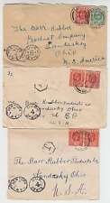 B9826: (3) 1920's-30's Nigeria, US Postage Due Covers