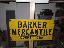 Original Metal Sign Barker Mercantile Store Vintage Antique