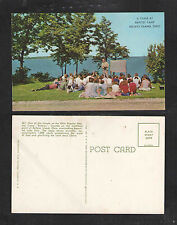 1960s A CLASS AT BAPTIST CAMP KELLEYS ISLAND OHIO POSTCARD