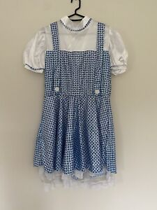 Wizard Of Oz Dorothy Outfit & Toto Sz 12 Ex Hire Fancy Dress Costume Cosplay
