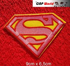 Superman Rosa PATCH Aufbügler Aufnäher Abzeichen Bügelbild Patch Supergirl logo