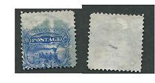 Scott 114, 3c 1869 PICTORIAL, Fancy Blue cancel, MAJOR OFFSET, EFO