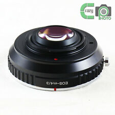 for Canon EOS EF Lens to Micro 4/3 M43 GX7 Focal Reducer Speed Booster Adapter