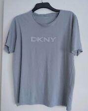 Men's DKNY Grey Casual Shirt Tshirt Large Slim Fit 100% Cotton
