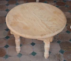 Natural wooden table home decor table