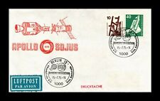 DR JIM STAMPS APOLLO SOYUZ SPACE MISSION AIRMAIL GERMANY COVER
