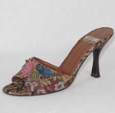 """Moschino """"Cheap & Chic"""" Floral Tapestry Sandals Heels Shoes Sz. EU 37 US 7"""