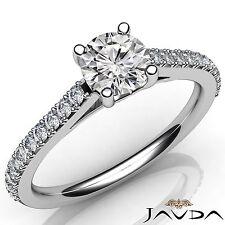 Prong Set Round Diamond Elegant Engagement Ring GIA H VS2 Platinum 950 1.02Ct