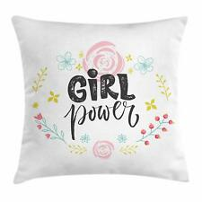 Girl Throw Pillow Cases Cushion Covers Ambesonne Home Accent Decor 8 Sizes