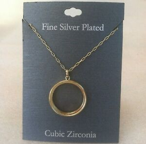 $70 New Fine Silver Plated Neclace Fashion Jewelry with Cubic Zirconia Pedant