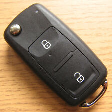 2 Button Remote Flip Key FOB Case VW Golf mk5 mk6 mk7 Passat B7 CC Polo 6R 6C