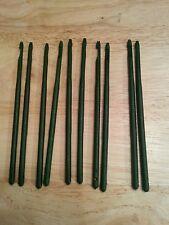 10 Dark green plastic standard Disgorgers fishing/carp/perch etc.