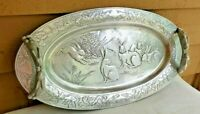 "Arthur Court Vintage 1980 Large 24"" Rabbit Serving Tray With Handles"