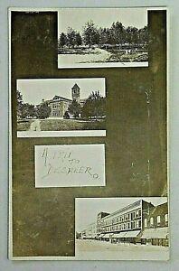 Deshler Ohio Multi Town Views Collage Stores Real Photo Postcard RPPC 5571