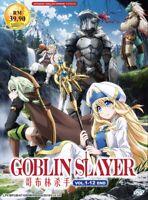 DVD Anime Goblin Slayer Complete Series (1-12 End) English Audio Dub All Region
