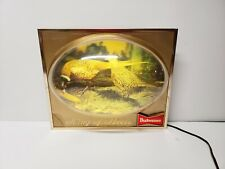 Budweiser Beer Pheasant Lighted Bubble Sign 3D Dome Display King Bowtie Vintage