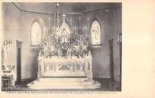 Emmitsburg Maryland St Anthony Church Devotion Altar Vintage Postcard K16142