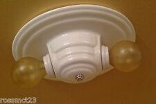 Vintage Lighting four matching porcelain bath or kitchen fixtures