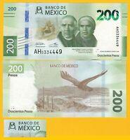 Mexico 200 Pesos p-new 2019 Sign. Espinosa & Alegre UNC Banknote