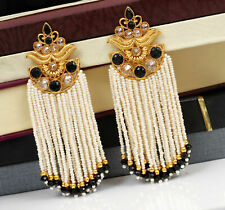 Indian Traditional Gold Plated Black Diamond Earrings Partywear Fashion Jewelry
