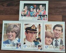 Guernsey 1981 Royal Wedding PHQ FDI Used Postcard Set #W1312