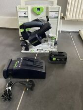 Festool HKC 55 EB Circular Saw 18V + 5.2Ah Battery And Charger.  Complete Kit.