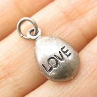 Vtg 925 Sterling Silver Love Charm Pendant