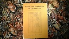 ** Canon and Proportion in Egyptian Art - 1975 1st ed.  by: Erik Iversen hb / dj