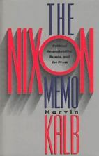 Marvin Kalb~THE NIXON MEMO~SIGNED 1ST/DJ~NICE COPY