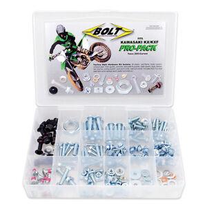 MOTOCROSS FULL PRO FACTORY FASTENER KIT COMPLETE BOLTS SET KAWASAKI KX KXF 03-14