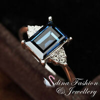 18K Gold Plated Made With Swarovski Crystal Exquisite Thin Band Small Gem Ring