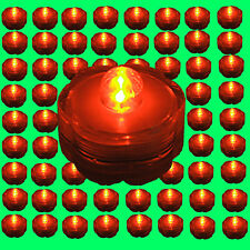 Qty 96 piece Orange Led Submersible Underwater Tea lights TeaLight bright Us
