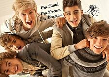 One Direction Zayn Harry Louis Liam Niall Music Autograph Signed A4 Poster 4