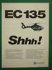 4/1996 PUB EUROCOPTER EC135 HELICOPTER HUBSCHRAUBER HELICOPTERE ORIGINAL AD