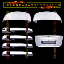 For Silverado 1500 2500 3500 2007-2013 Chrome Covers Mirrors+4 Doors wo+Tailgate
