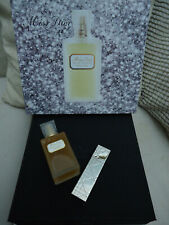 MISS DIOR EDT 50ml + 5ml Gold Refillable Spray + Hatbox Vintage 1997 NotA1 Box