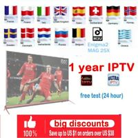 1 year IPTV subscription Sweden Arabic French Belgium Italy German + HDMI Cable
