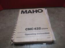 87 Maho MH600E CNC Vertical Mühle 432 Grafik Operating Instruction Manual