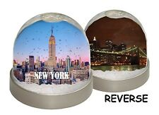 SNOW DOME - NEW YORK  -  globe Xmas (can be customised) Skyline Day Night