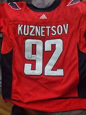 Evgeny Kuznetsov Signed Washington Capitals Jersey PSA COA #92 Stanley Cup NHL !